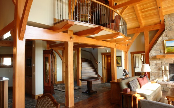 Crow River Bluff House - Stair