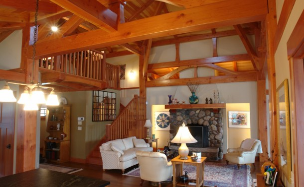 Craftsman Style Home - Living Room