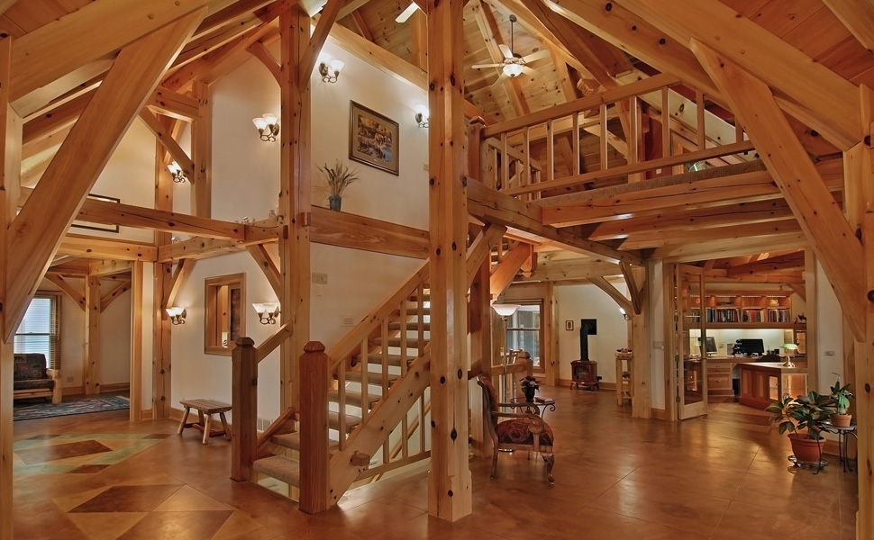 Timber frame home designs and floor plans examples great Timber framed house plans