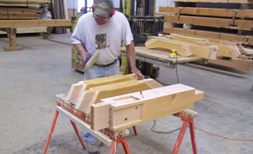 Great Northern Woodworks Staff in Finish Shop