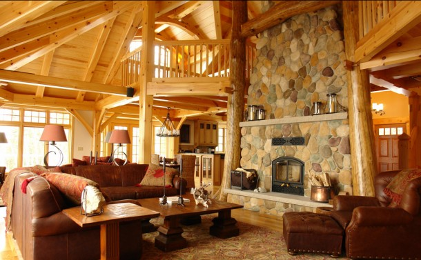 Timber Framed Home - Living Room