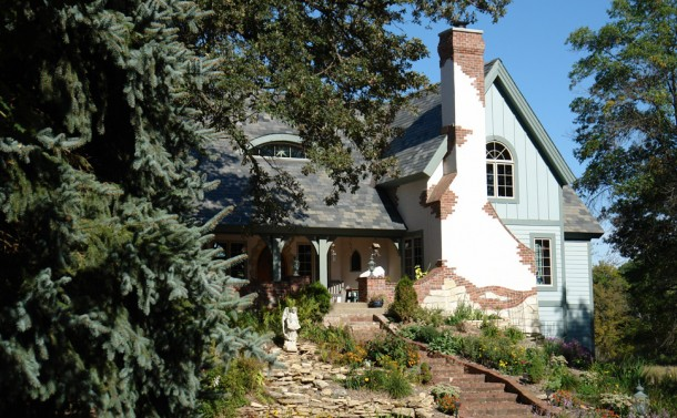 Cottage Style Storybook House - WNW View